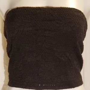 BNWT PLUS SIZE Black Knit Lace Tube Top Size 2X